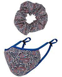 Lovers + Friends Комплект Mask Scrunchie В Цвете Синий Красный Мульти - Черный