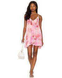 9seed St. Tropez Ruffle Mini Dress - Pink