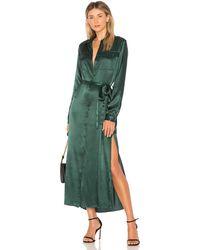 L'academie The Long Sleeve Shirt Dress - Green