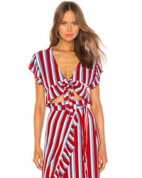 Lovers + Friends Waves For Days Crop Top - Red