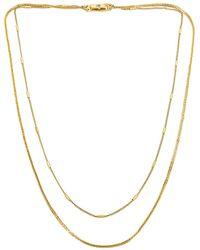 Jenny Bird Ожерелье Surfside В Цвете Золотой - Металлик