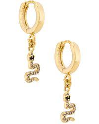Natalie B. Jewelry Серьги-кольца Petite Serpent В Цвете Золотой - Металлик