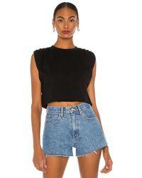 GRLFRND Cuffed Tシャツ - ブラック