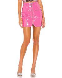 superdown Simone Zip Mini Skirt - Pink