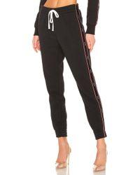 Kendall + Kylie - Drawstring Fleece Pant In Black - Lyst