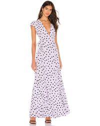 Tularosa Sid Wrap Dress - Purple