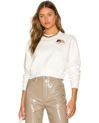 Fiorucci Squiggle Angels Crop Sweatshirt - White