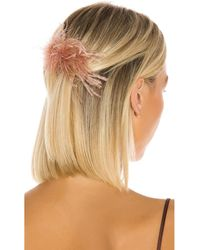 Loeffler Randall Feather Hair Comb - Multicolor