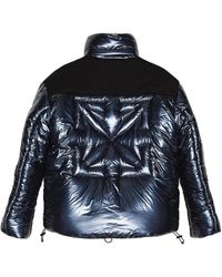 Off-White c/o Virgil Abloh Down Puffer Jacket - Blau