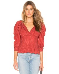 C/meo Collective Vices Long Sleeve Top - Rouge