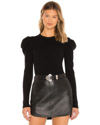 7 For All Mankind Puff crewneck top - Negro