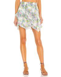 For Love & Lemons Evie Mini Skirt - Multicolour