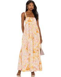 Free People Park Slope Maxi Dress - Orange