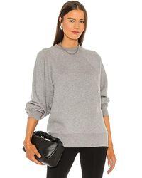 Marissa Webb So Uptight Drop Raglan French Terry Sweatshirt - Grey