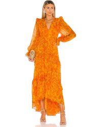 AMUR Vestido largo allegra - Naranja