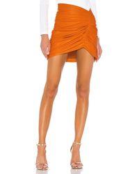 Camila Coelho Clementine レザースカート - オレンジ