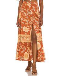 Spell Sloan マキシスカート - オレンジ