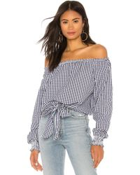 Sanctuary - Claire Tie Front Top In Navy - Lyst