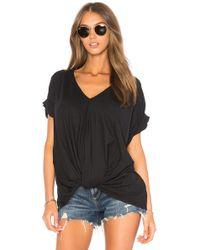 Bobi 超軽量ジャージーノットtシャツ - ブラック