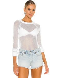 Lamade Luna Mesh Pullover - White