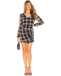 Heartloom - Anthea Ruched Plaid Dress - Lyst