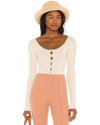 Song of Style Audra Shell Cardigan - Natural