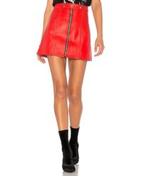 Urban Outfitters - X Revolve High Waisted Zip Skirt In Red - Lyst