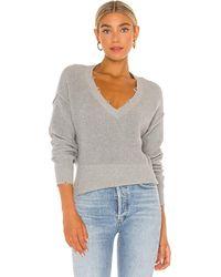 Bobi Black Cozy Cotton Sweater - Gray
