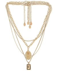 8 Other Reasons Mrs Ross Necklace - Metallic