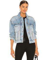 AllSaints Куртка Studded В Цвете Классическое Индиго - Синий