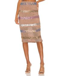 Nbd Mosaic Midi Skirt - Braun