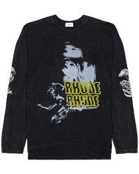 Rhude Blue Woman ロングスリーブtシャツ - ブラック