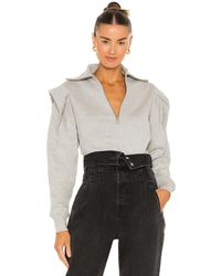 FRAME Sporty Zip Sweatshirt - Grau