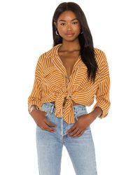 Seafolly Stripe Beach Shirt - Mehrfarbig
