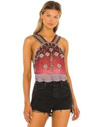 Free People Hi There Halter Top - Pink