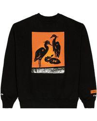 Heron Preston Свитшот Nightshift В Цвете Черный