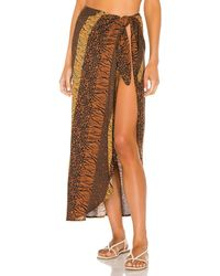 House of Harlow 1960 X Revolve Erin Sarong - Brown