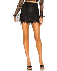 Nbd Hanna Lace Mini Skirt - Black