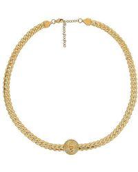 Ellie Vail Serena Serpent Medallion Chain Necklace - Metallic