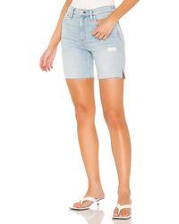 Hudson Jeans Джинсовые Шорты Hana В Цвете Devout. Размер 25 (также В 26). - Синий