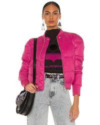 Étoile Isabel Marant Куртка Cody В Цвете Малиновый - Многоцветный