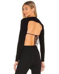 Camila Coelho Felicity アシンメトリーバックセーター - ブラック