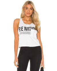 P.E Nation Camiseta tirantes centre - Blanco