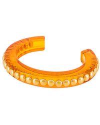 Lele Sadoughi Slim Studded Cuff - Orange
