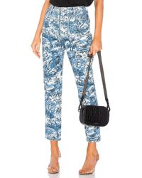 Off-White c/o Virgil Abloh - Tapestry Tight Crop Jean - Lyst