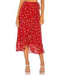 Privacy Please Clarita Midi Skirt - Red