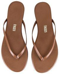 TKEES Foundations Shimmer Flip Flop - Brown