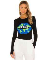 Lauren Moshi Mckinley グラフィックtシャツ - ブラック