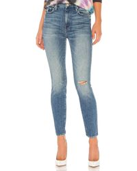 Mother High waisted looker ankle talla 24 - Azul