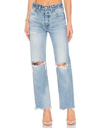 Moussy Odessa Straight. Size 30, 23. - Blue